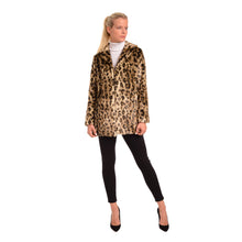 Load image into Gallery viewer, FF20-47L Notch Leopard Coat