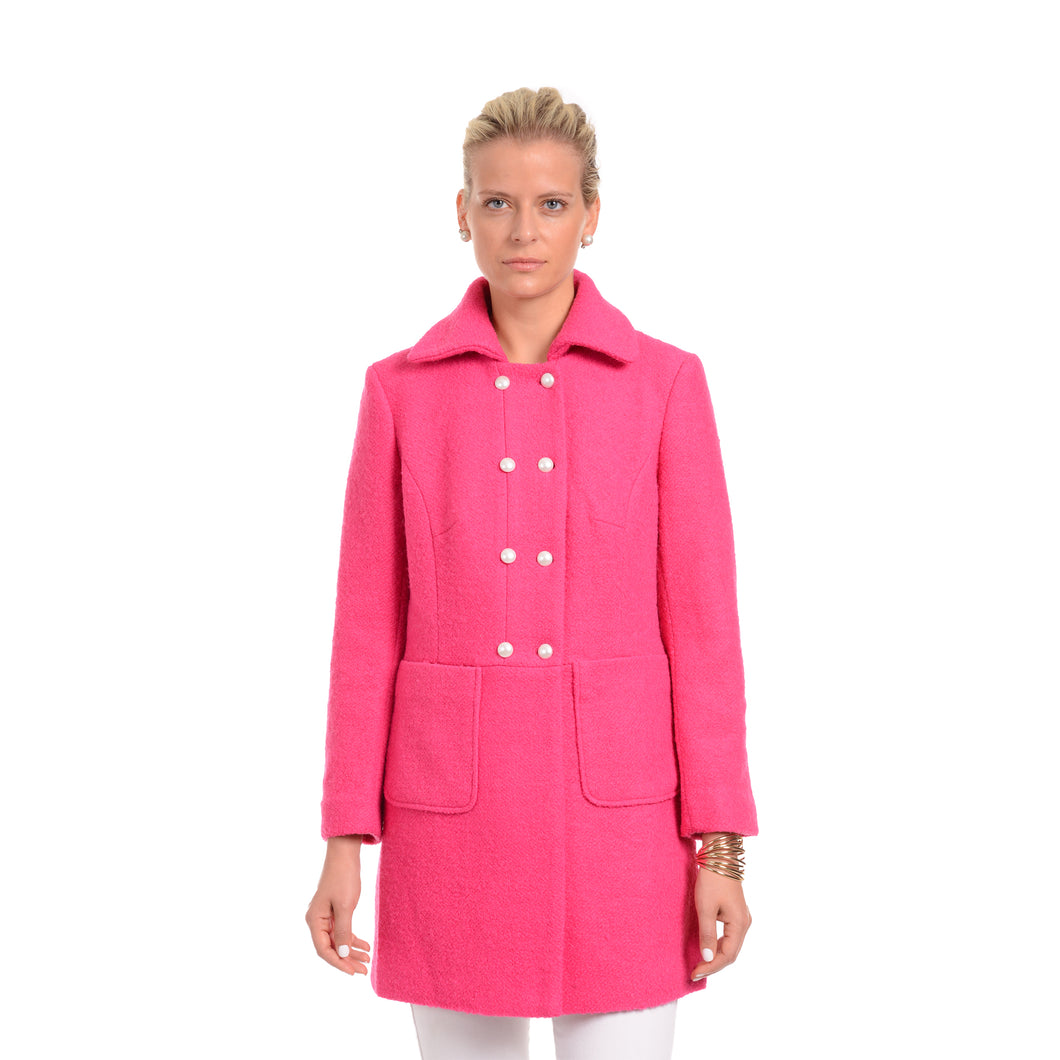 FM19-175 Pea Coat w/ Jewel Buttons