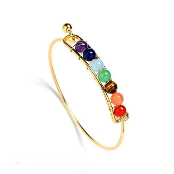 Natural Stone Chakra Healing Bangle