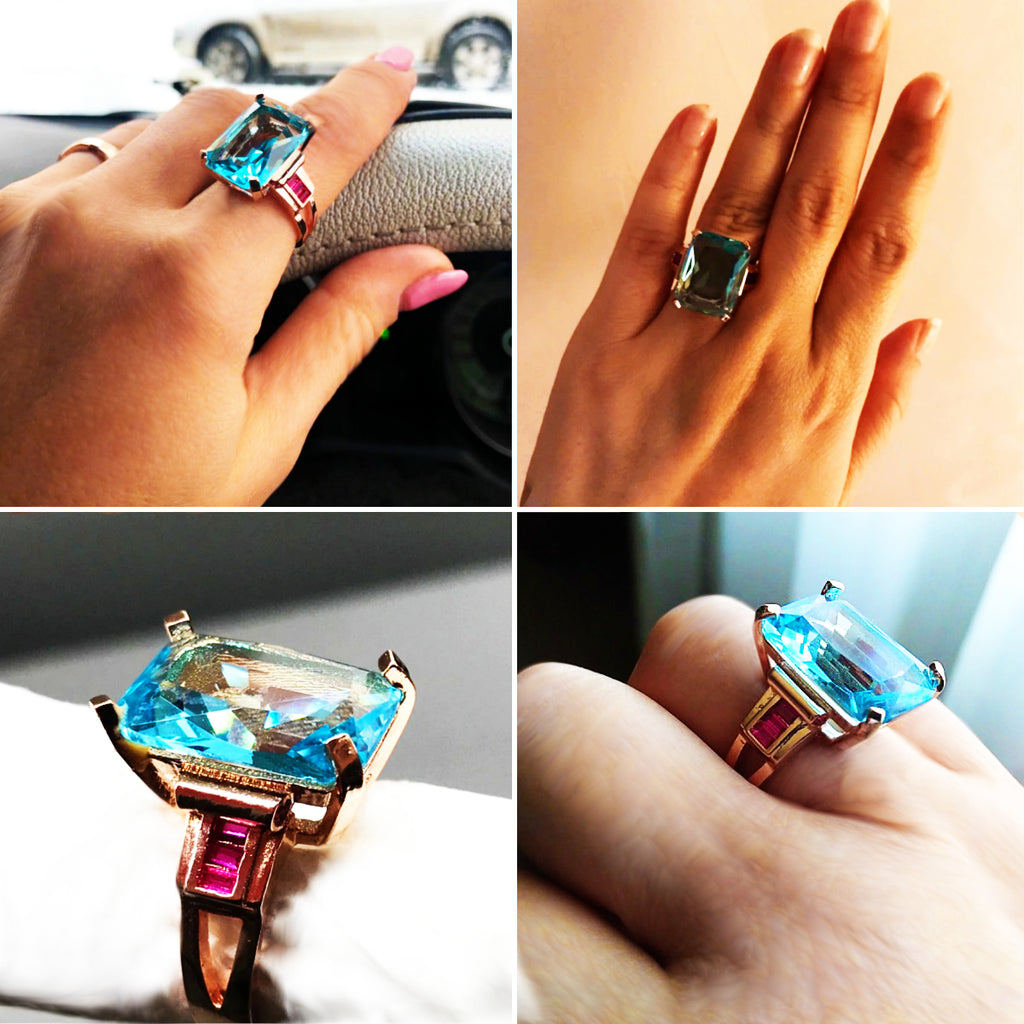 Olesia - Blue Topaz Ring