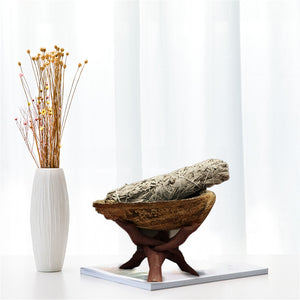 Natural Abalone Shell White Sage Stand