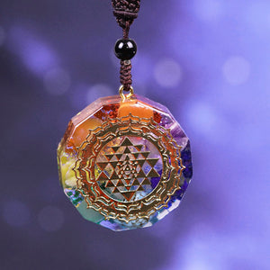 Sri Yantra Sacred Geometry Necklace