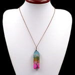 Load image into Gallery viewer, Natural Quartz Crystal 'Tree of Life' Necklace