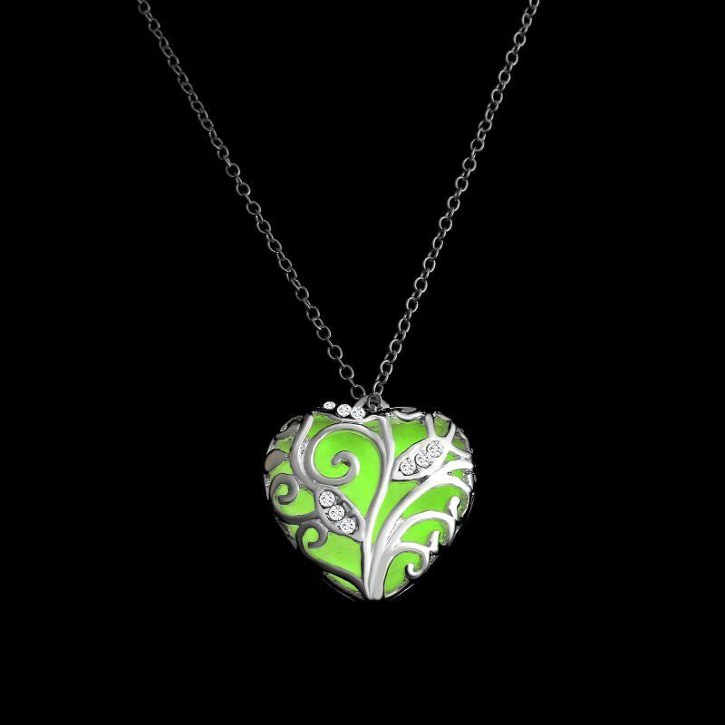 New glow in the dark heart chakra locket chakra conscious new glow in the dark heart chakra locket mozeypictures Images