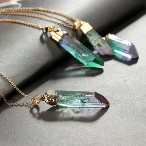 Natural Fluorite Crystal Pendant