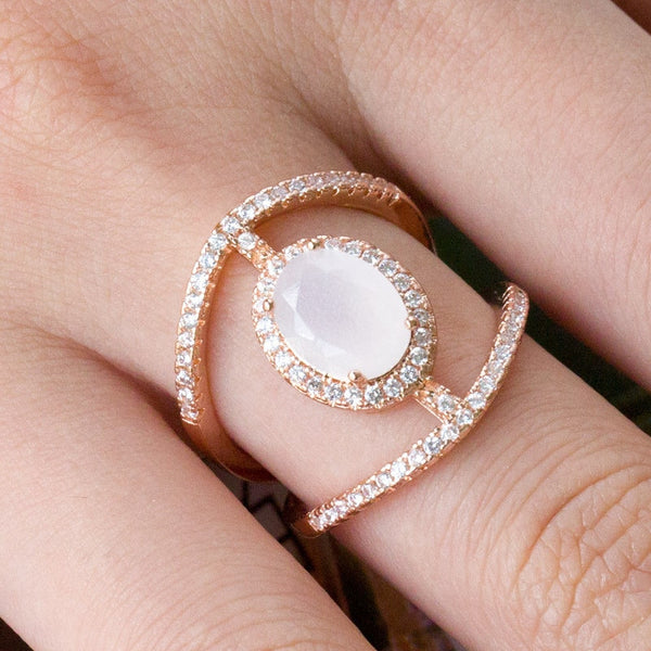 Nereid  - Moonstone Ring