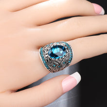 Load image into Gallery viewer, Aleries Blue Topaz Ring