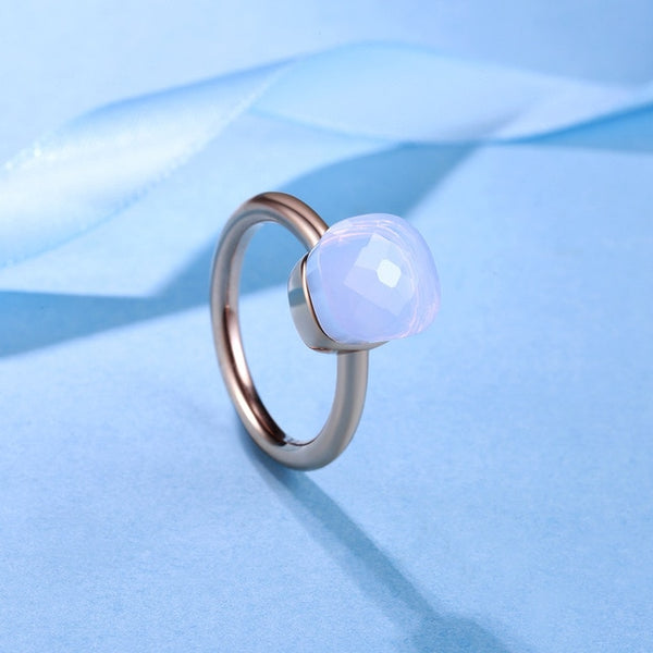 Chakra Conscious® 925 Sterling Silver Rose-Gold Crystal Ring