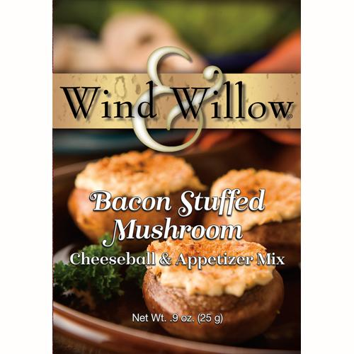 Bacon Stuffed Mushroom Cheeseball & Appetizer Mix by Wind & Willow