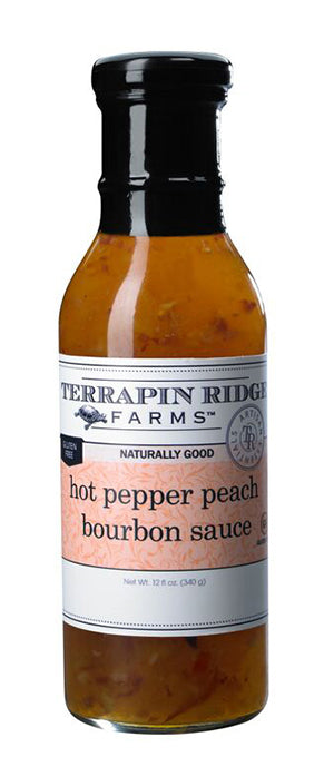 Hot Pepper Peach Bourbon Sauce - TR