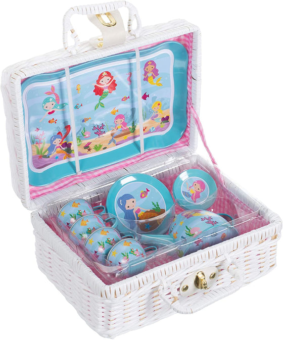 Mermaid Children's Tin Tea Set