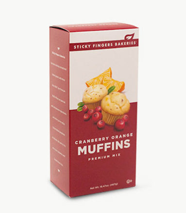 Cranberry Orange Premium Muffin Mix by Sticky Fingers Bakeries