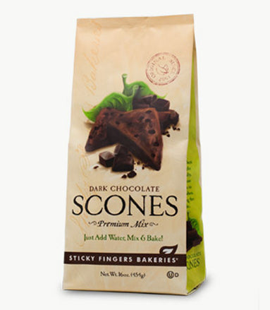 Dark Chocolate Scone Mix by Sticky Fingers Bakeries