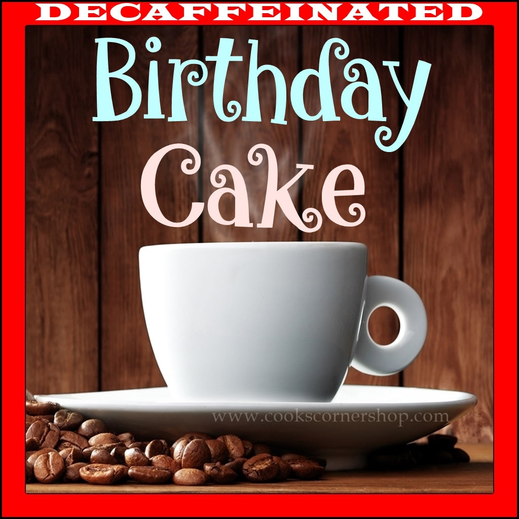 Decaffeinated Birthday Cake Flavored Coffee