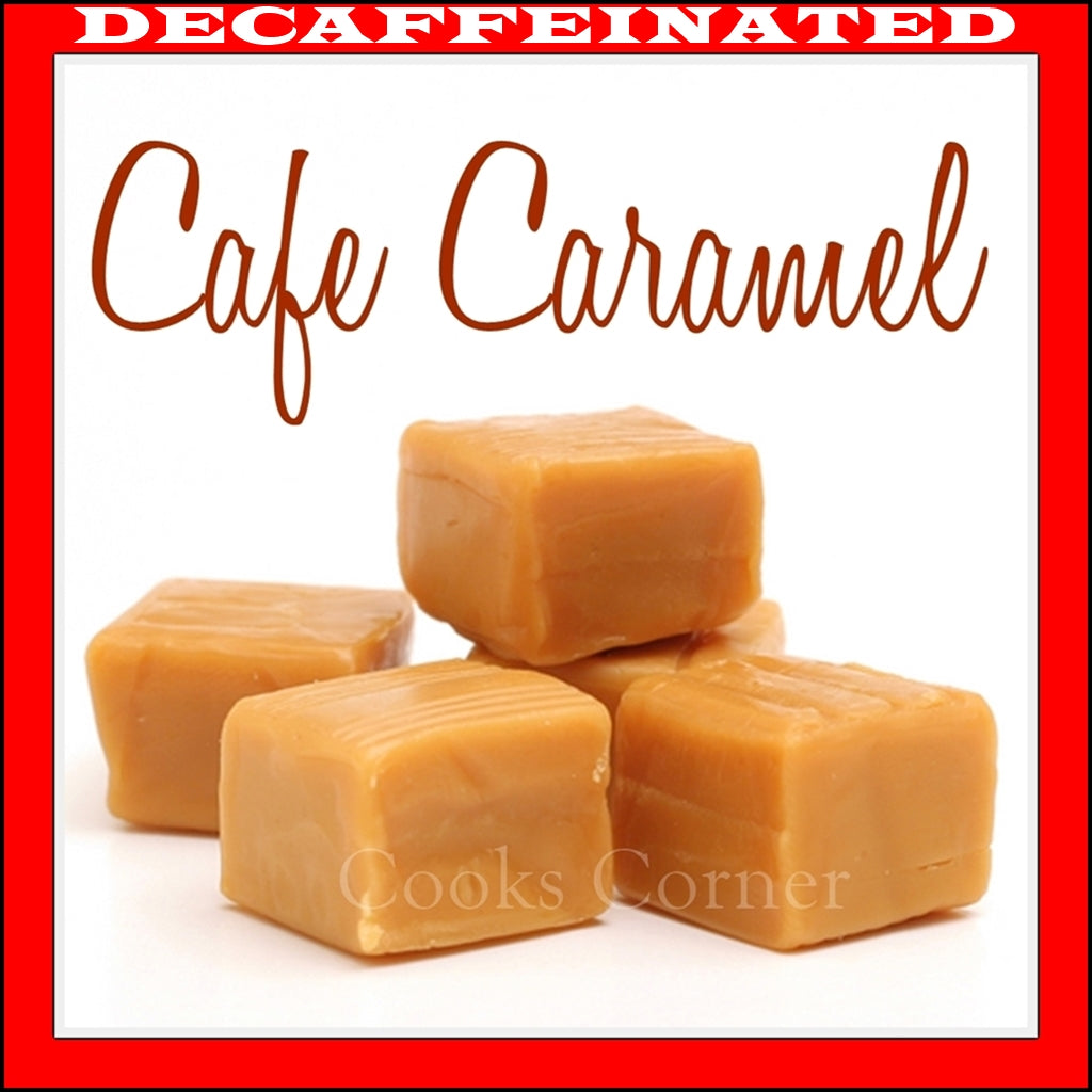 Decaf Cafe Caramel Flavored Coffee