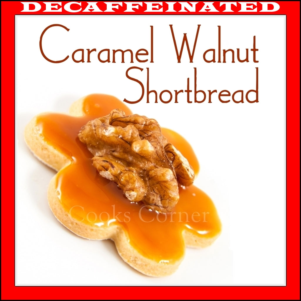 Decaf Caramel Walnut Shortbread