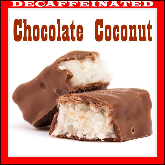 Decaf Chocolate Coconut Flavored Coffee
