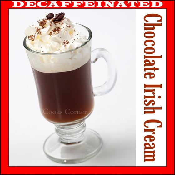 Decaf Chocolate Irish Cream Flavored Coffee