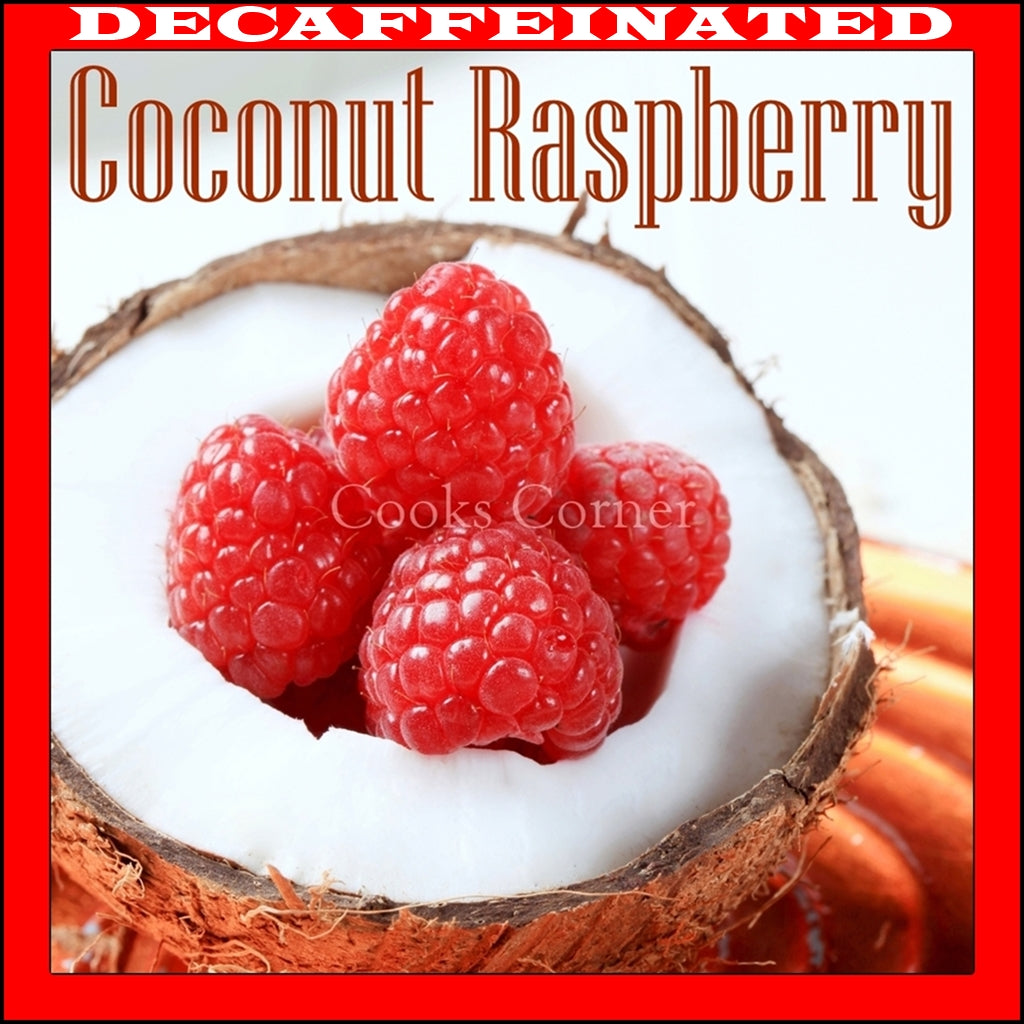 Decaf Coconut Raspberry Flavored Coffee