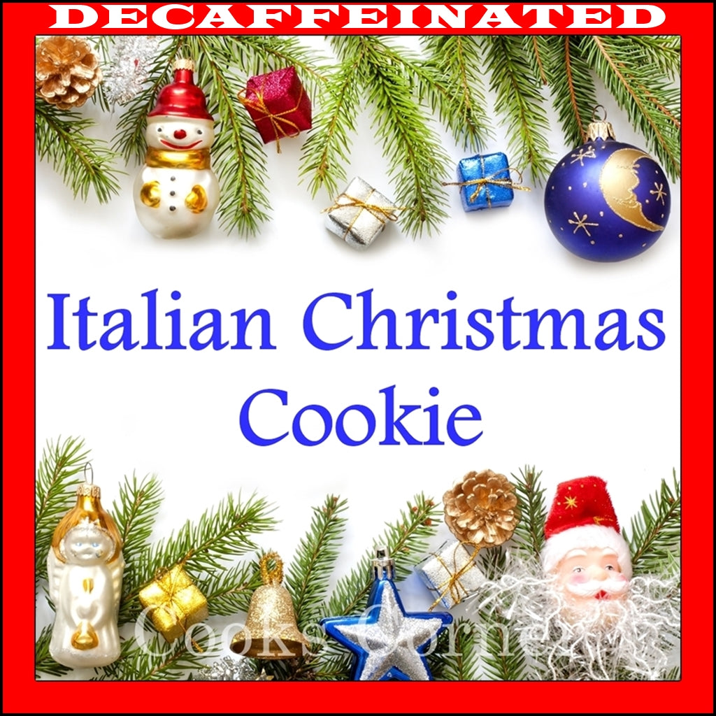 DECAF. Italian Christmas Cookie Flavored Coffee - Cooks Corner