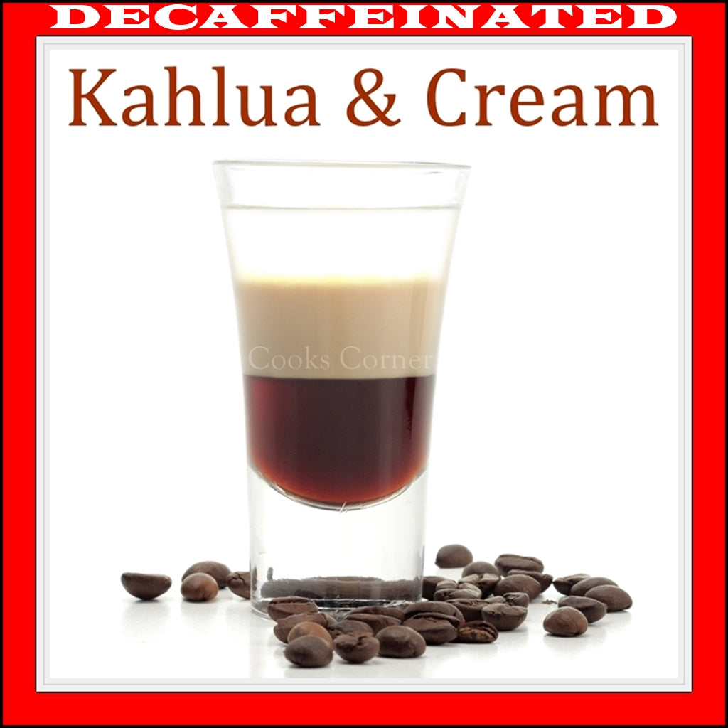Decaf Kahlua and Cream Flavored Coffee