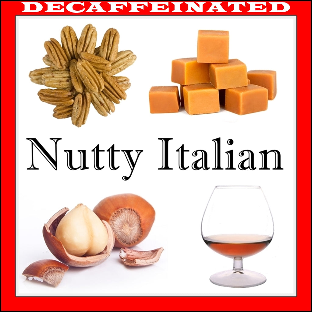 Decaf Nutty Italian Flavored Coffee