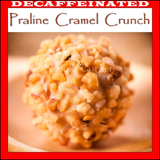 praline caramel crunch flavored coffee