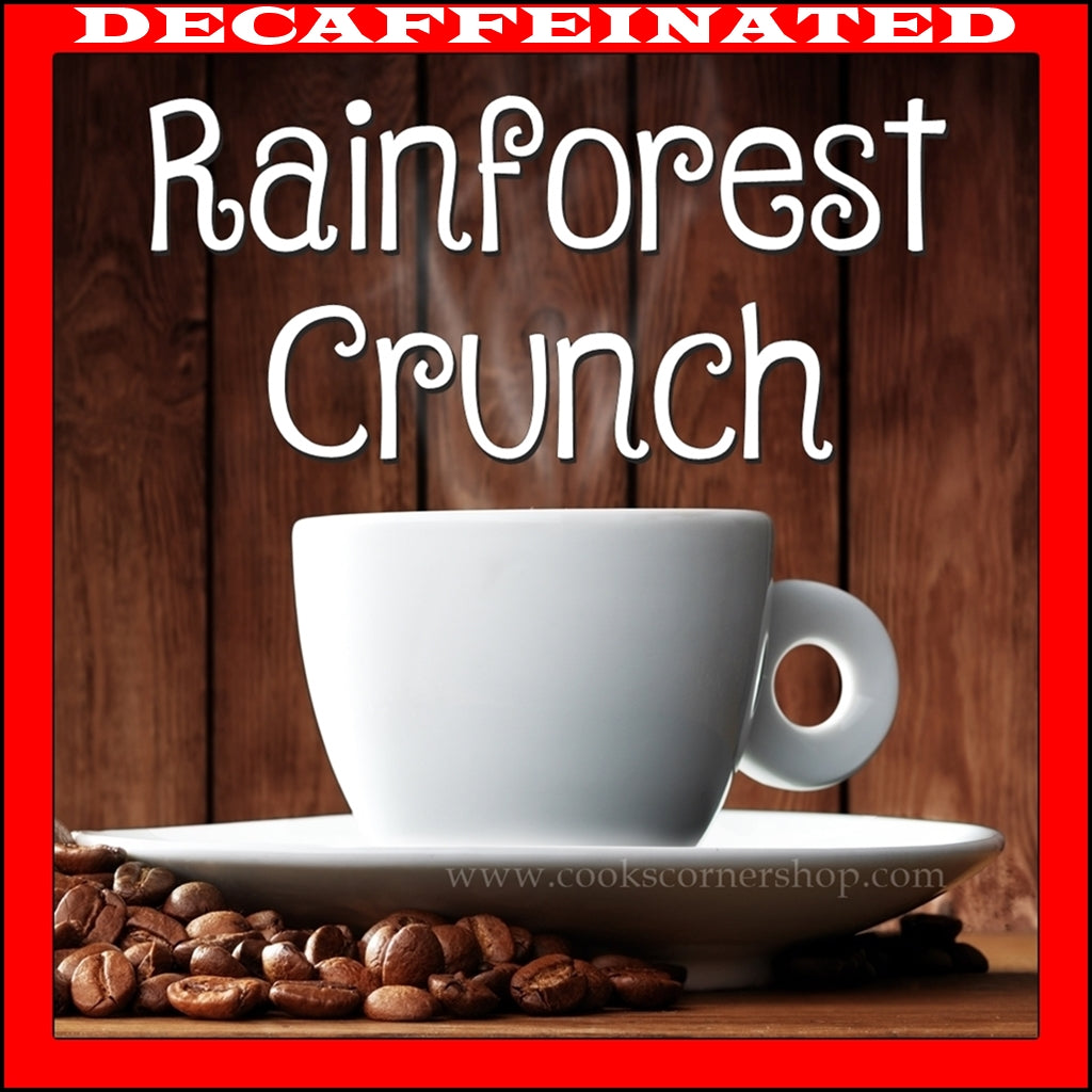 Decaffeinated Rainforest Crunch Flavored Coffee