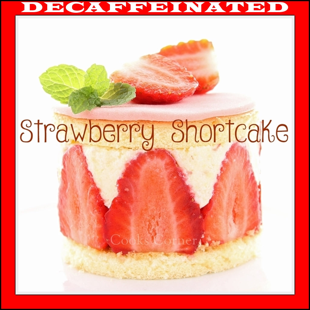 Decaffeinated Strawberry Shortcake Flavored Coffee