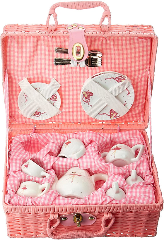 Pink Ballerina Children's Tea Set