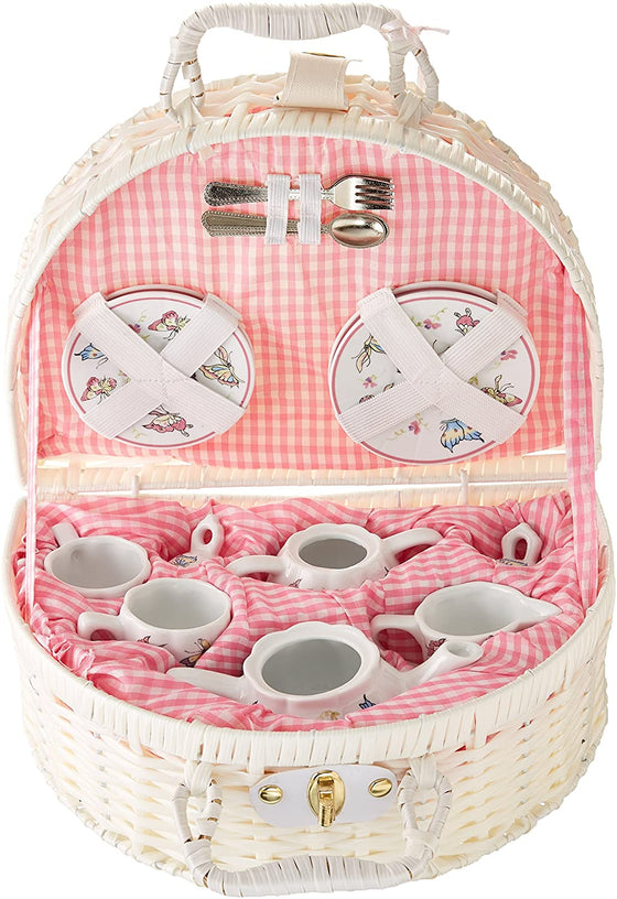 Pink Butterfly Children's Tea Set