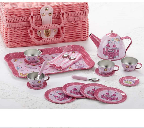 Pink Castle Children's Tin Tea Set