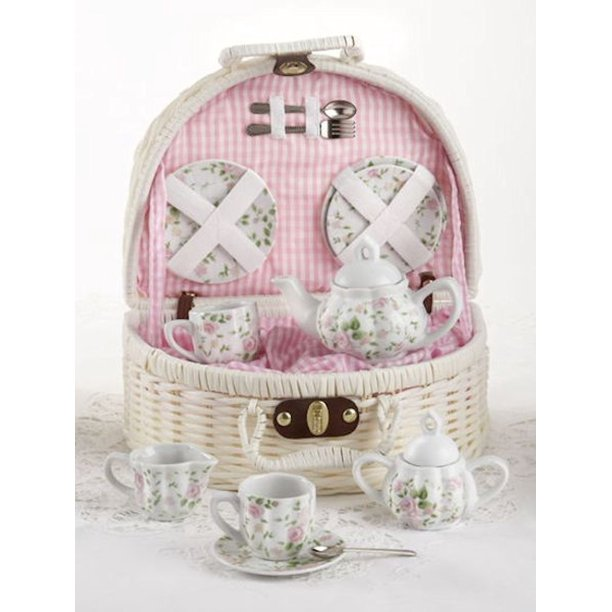 Pink Chintz Children's Tea Set