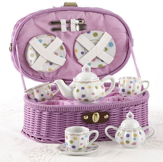 Purple Gumdrop Children's Tea Set