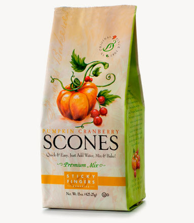 Pumpkin Cranberry Scone Mix by Sticky Fingers Bakeries