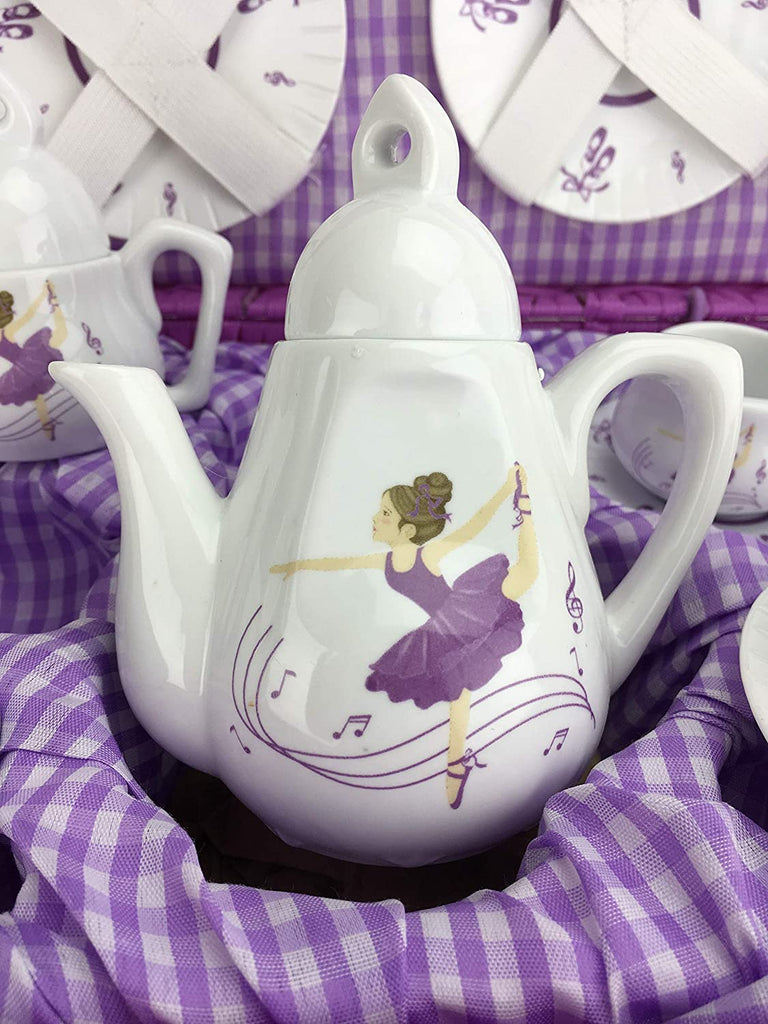 Purple Dancer Children's Tea Set
