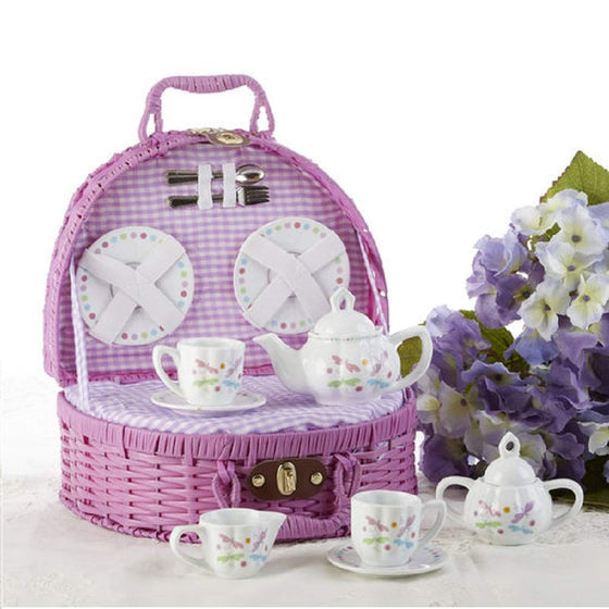 Purple Dragonfly Children's Tea Set