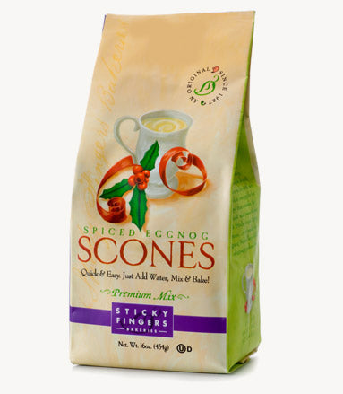 Spiced Eggnog Scone Mix by Sticky Fingers Bakeries