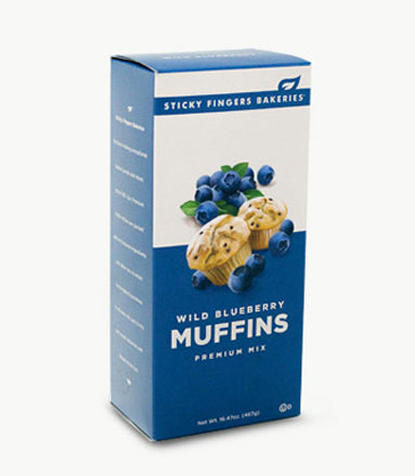 Wild Blueberry Premium Muffin Mix by Sticky Fingers Bakeries
