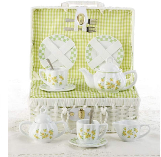 Yellow Sue Flower Children's Tea Set