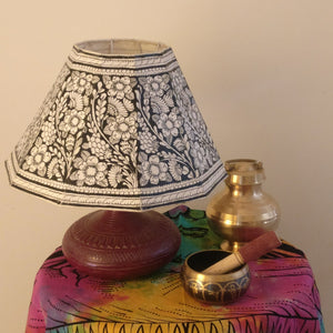 Handpainted Leather Lampshades