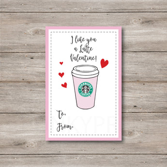 Coffee Lover Printable Valentines. Instant Download!