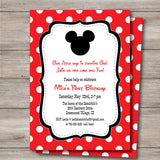 Mickey Mouse Party Invitation with Editable Text, Mickey Invitation for Baby Shower or Birthday Party