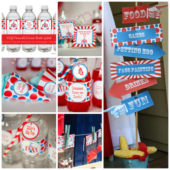 Carnival Party Kit with Editable Text, DIY Carnival Party to Print at Home