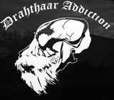 DRAHTHAAR ADDICTION - Single Drahthaar Skull Logo Die Cut Decal