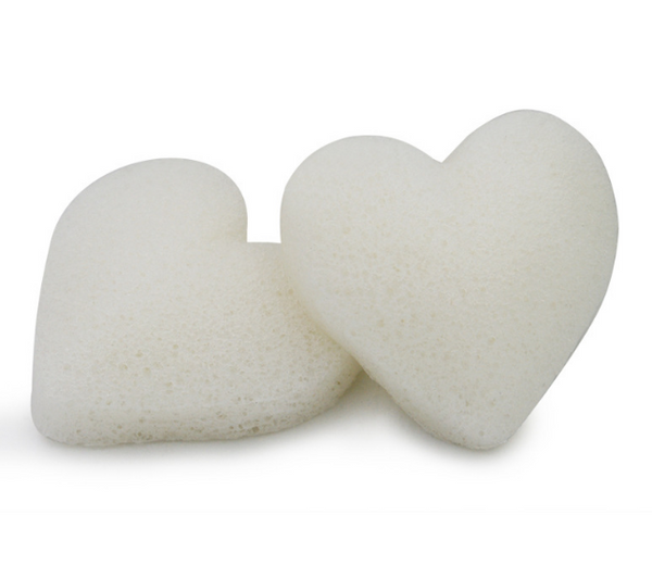 Natural Konjac Sponge (Heart) 心形蒟蒻潔膚綿