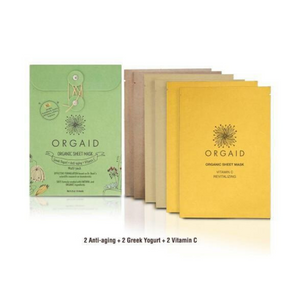 Orgaid Assorted multi-pack (2 Anti-aging / 2 Greek yogurt / 2 Vitamin C ) 有機面膜組合(6片)