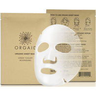 Orgaid Greek yogurt & Nourishing Organic Sheet Mask 有機希臘乳酪營養⾯膜 (4⽚)