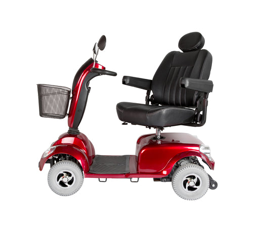 red-four-wheel-electric-scooter