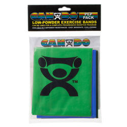 CanDo Exercise Band Pack-Moderate Low Powder